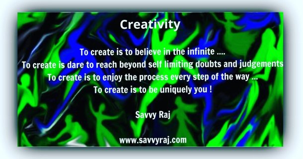 To create is being you!